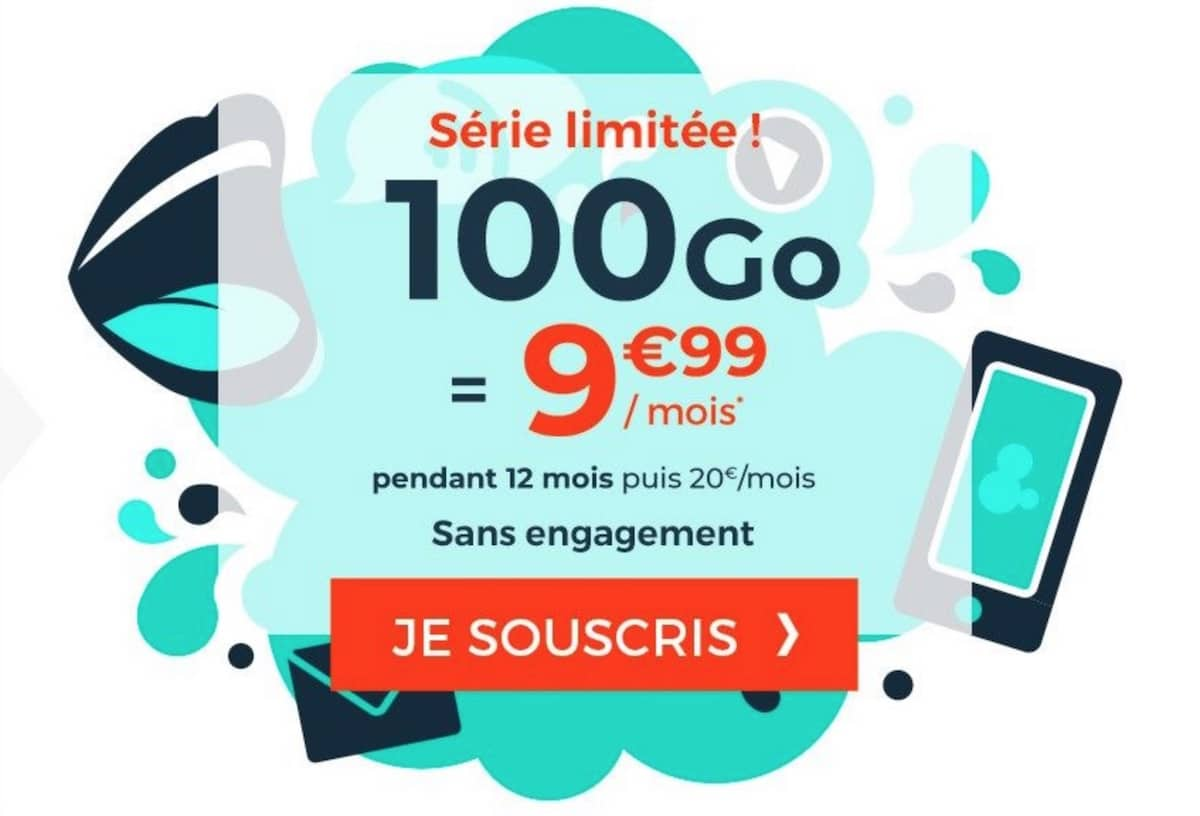forfait cdiscount mobile 100 go pas cher