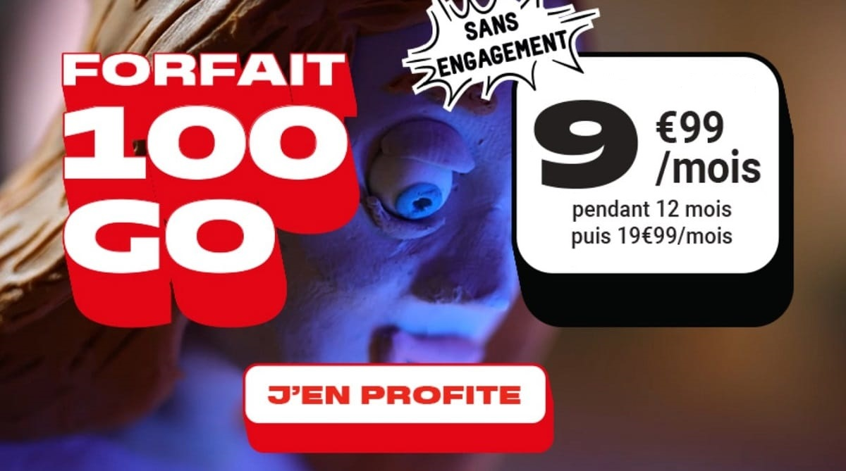 Forfait NRJ Mobile 100 Go