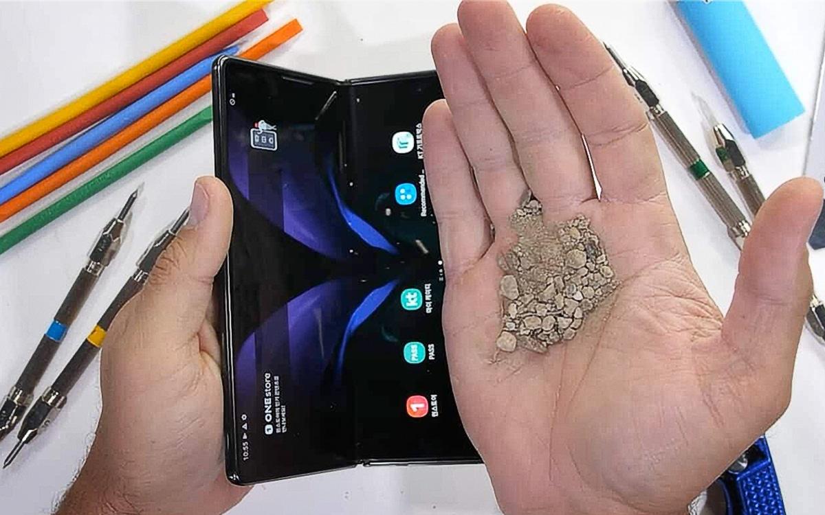 Galaxy Z Fold 2 test résistance