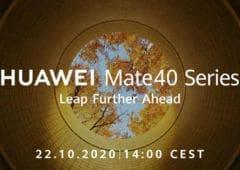 huawei mate 40 présentation 22 octobre officiel
