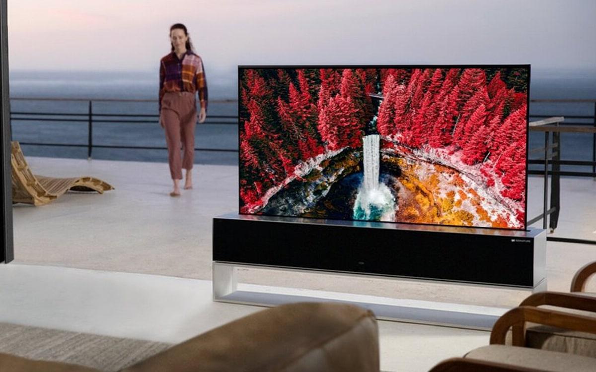 lg tv enroulable disponible prix 73000 euros