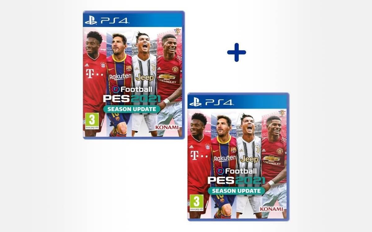 lot de 2 jeux PES 2021 sur PS4 pas cher