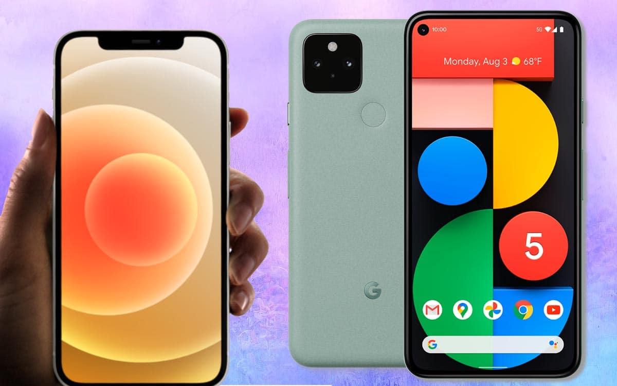 pixel 5 iphone 12