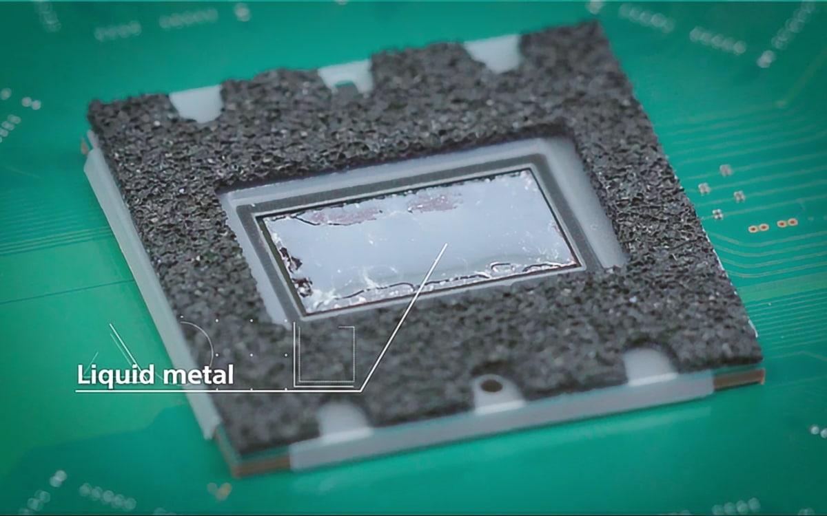 PS5 métal liquide liquid metal