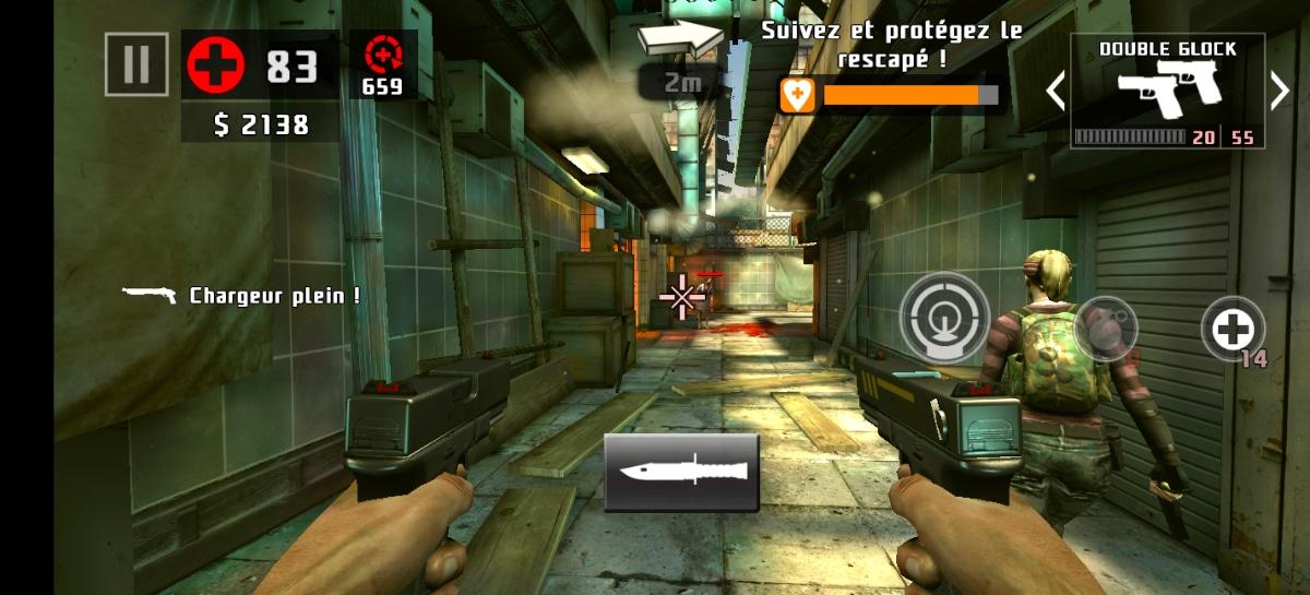 test vivo x51 jeu dead trigger 2