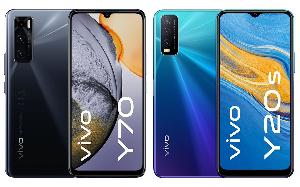 vivo Y20s Nebula Blue vivo Y70 Gravity Black