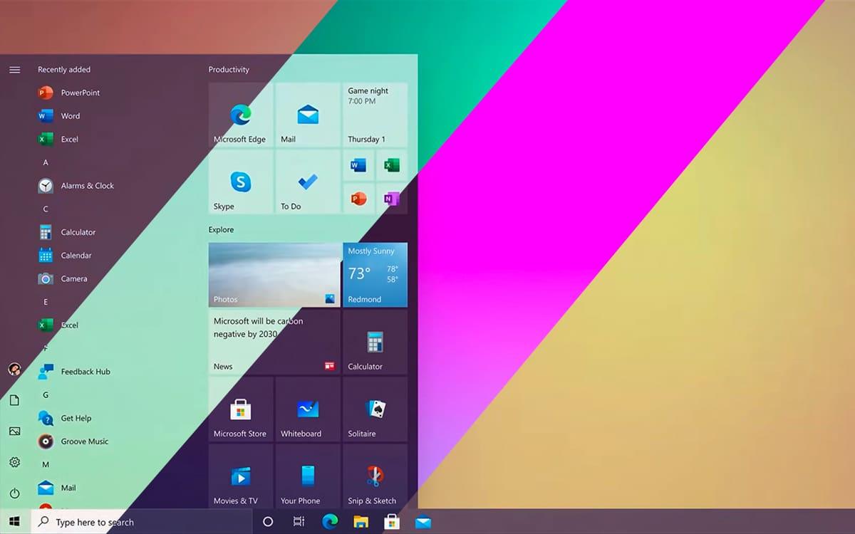 Windows 10 October design