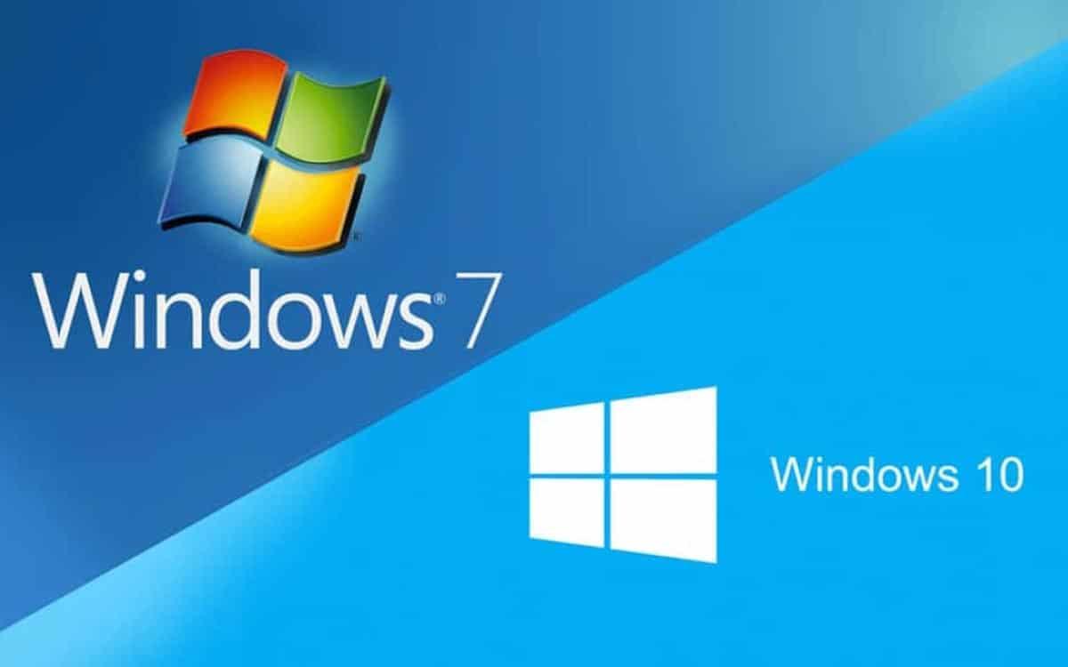 Windows 10 et Windows 7