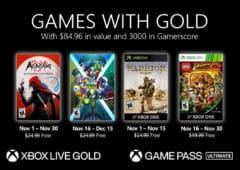 xbox games with gold jeux novembre 2020