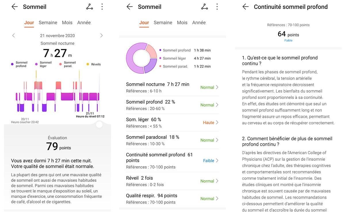 Huawei Watch GT 2 Pro sommeil