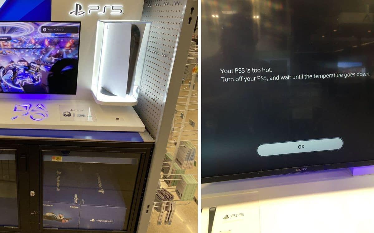 PS5 dans un magasin