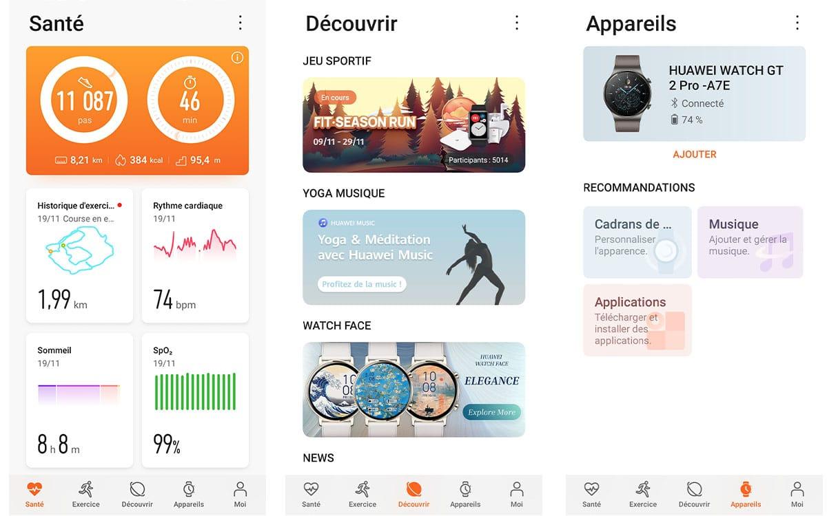 Huawei Watch GT 2 Pro menus