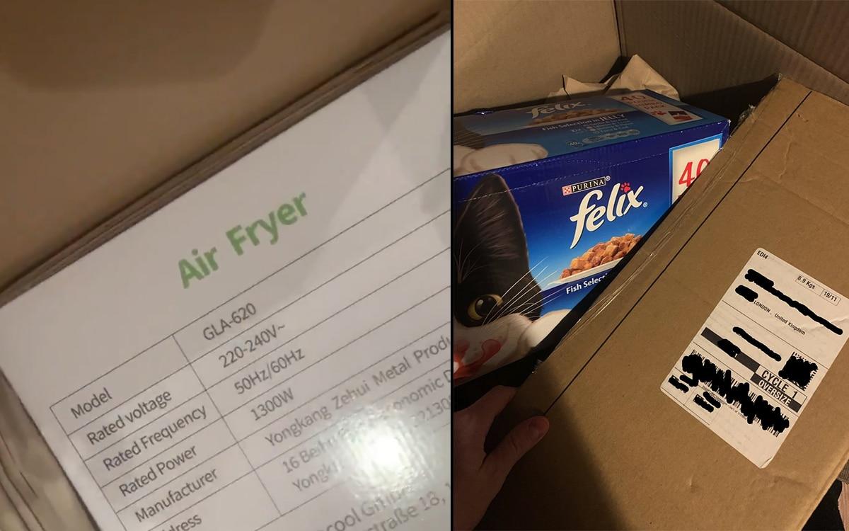 Amazon livre une friteuse a la place de la PS5