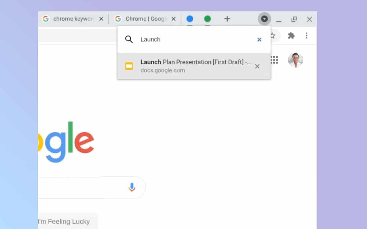 Chrome gestion des onglets