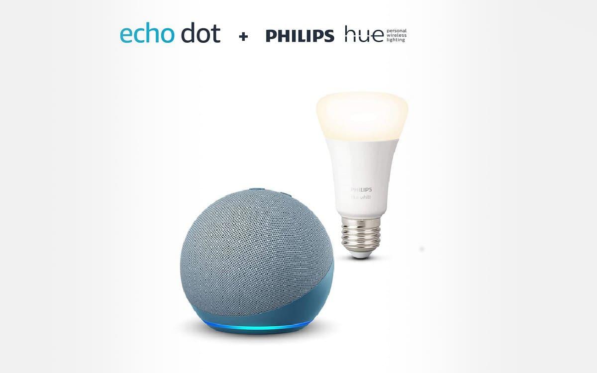 Echo Dot 4 + ampoule Philips