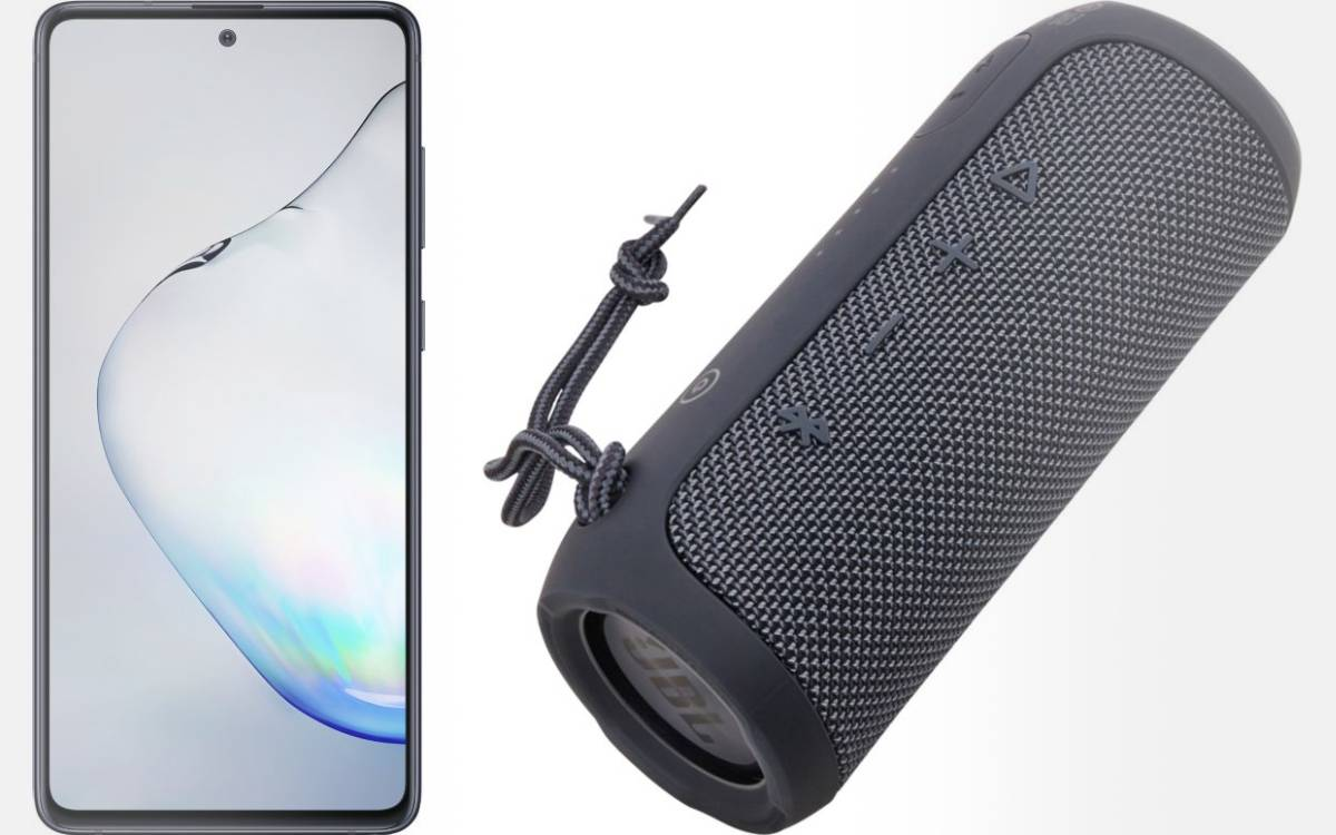 Pack Galaxy Note 10 Lite + JBL Flip Essential pas cher chez Boulanger
