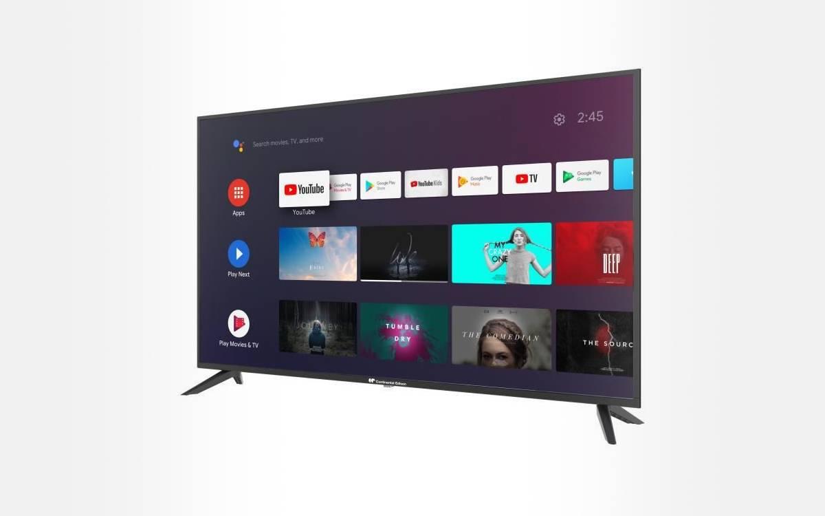 TV LED 4K UHD 50 pouces Continental Edison pas chère