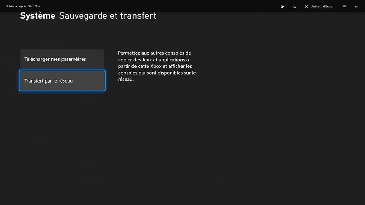 Xbox One S transfert donnees