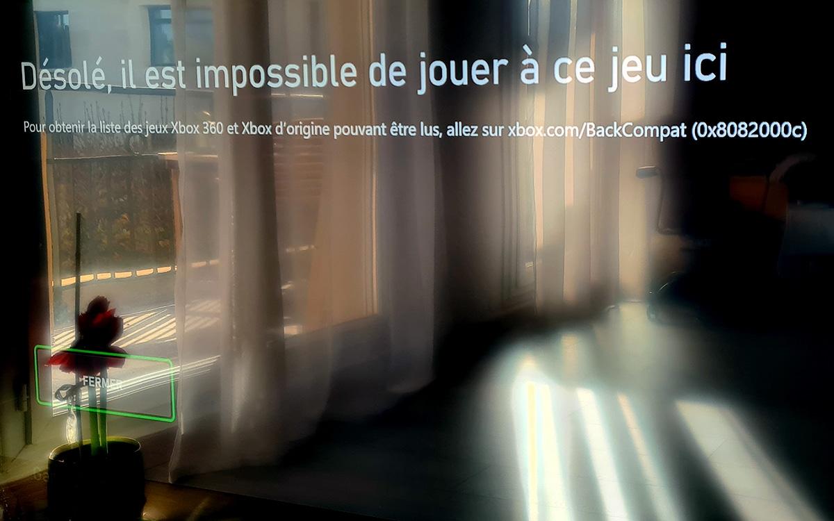 Xbox Series X retrocompatibilite impossible