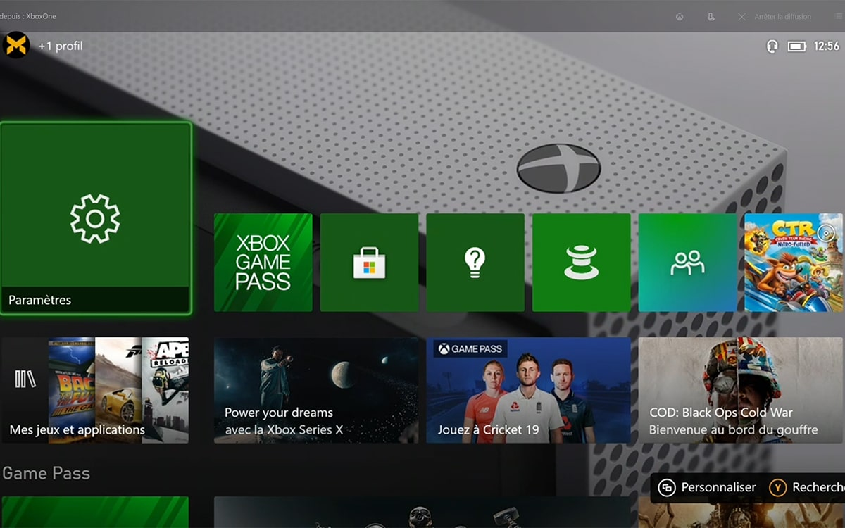 Xbox One S interface