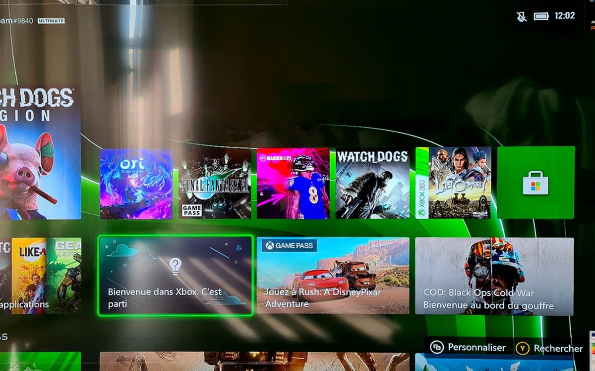 Xbox Series X interface