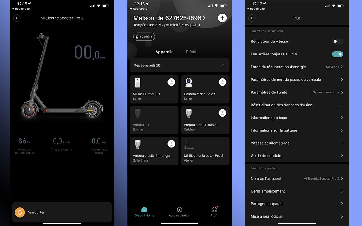 Xiaomi Mi Electric Scooter Pro 2 app