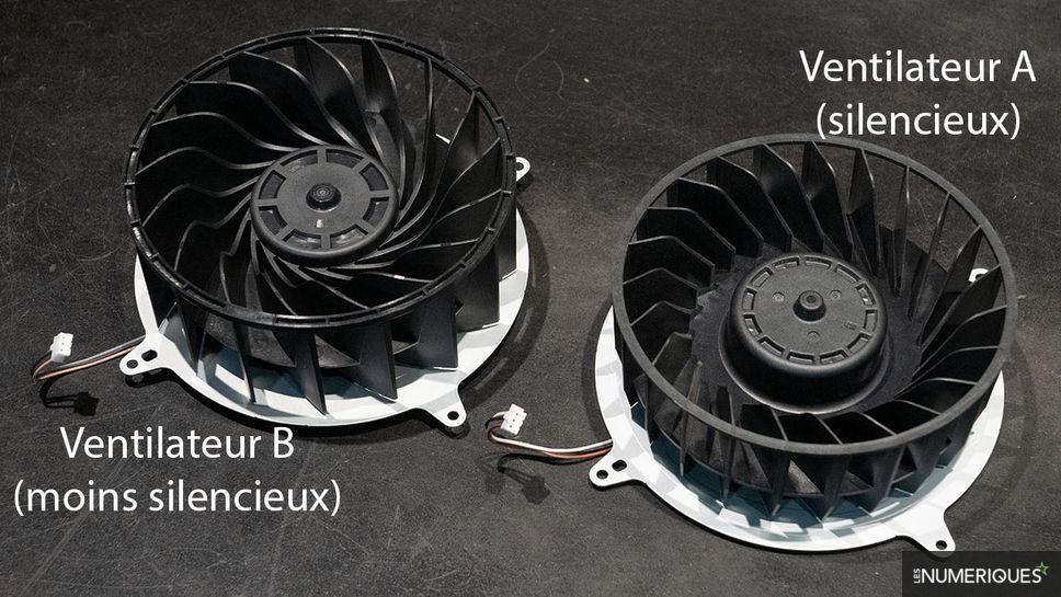PS5 ventilateurs