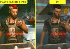 cyberpunk video comparative ps4 pc