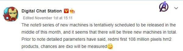 Redmi Note 9 Digital Chat Station