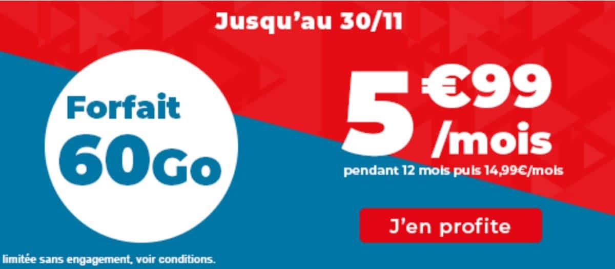 Forfait mobile auchan 60 Go