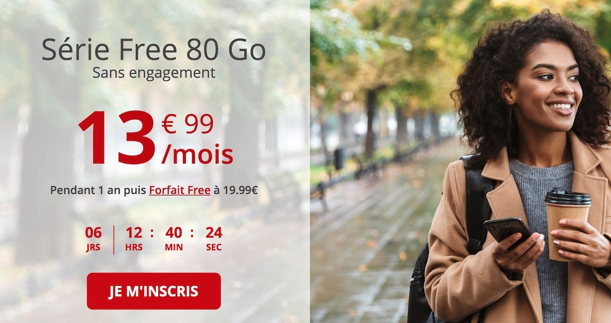forfait free mobile 80 Go avant le Black Friday