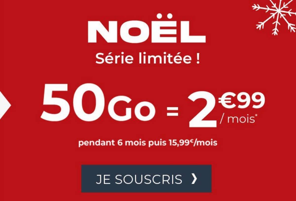 forfait mobile 50 Go Cdiscount Mobile pour Noël