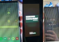galaxy s9 s10 s20 plus note9 bugs écran mise jour