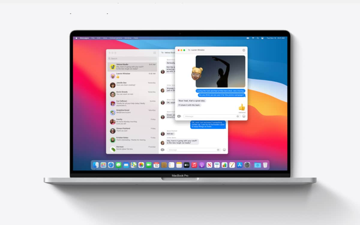 Cay Technology - Centre de Réparation Saint Quentin imessage-1 Apple lance la version finale de macOS Big Sur le 12 novembre 2020 Non classé