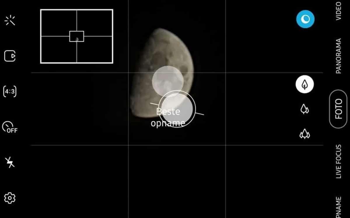 mode lune samsung