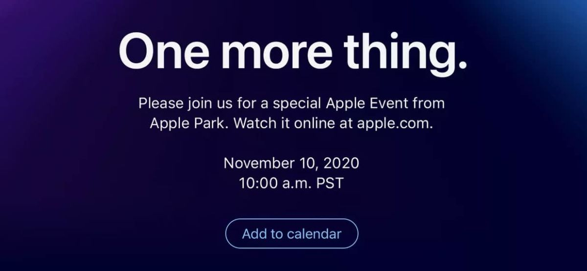 Annonce Apple one more thing