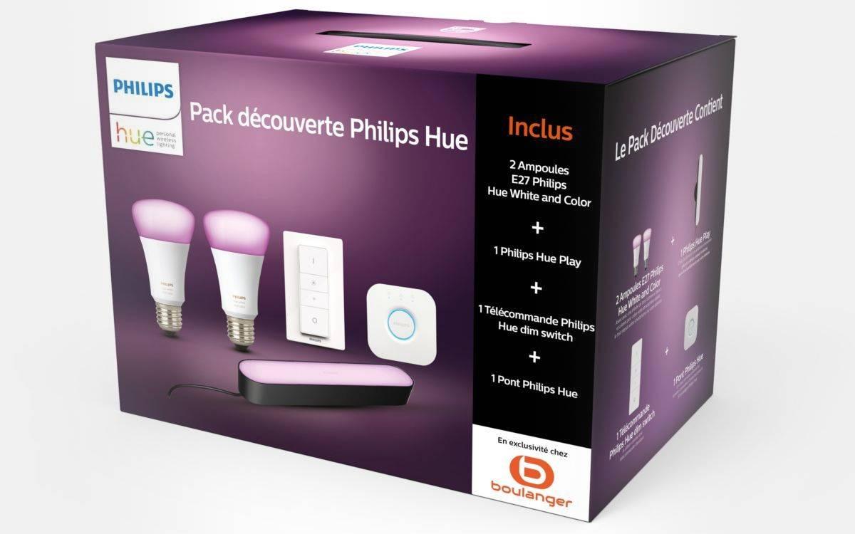 pack démarrage Philips Hue chez Boulanger