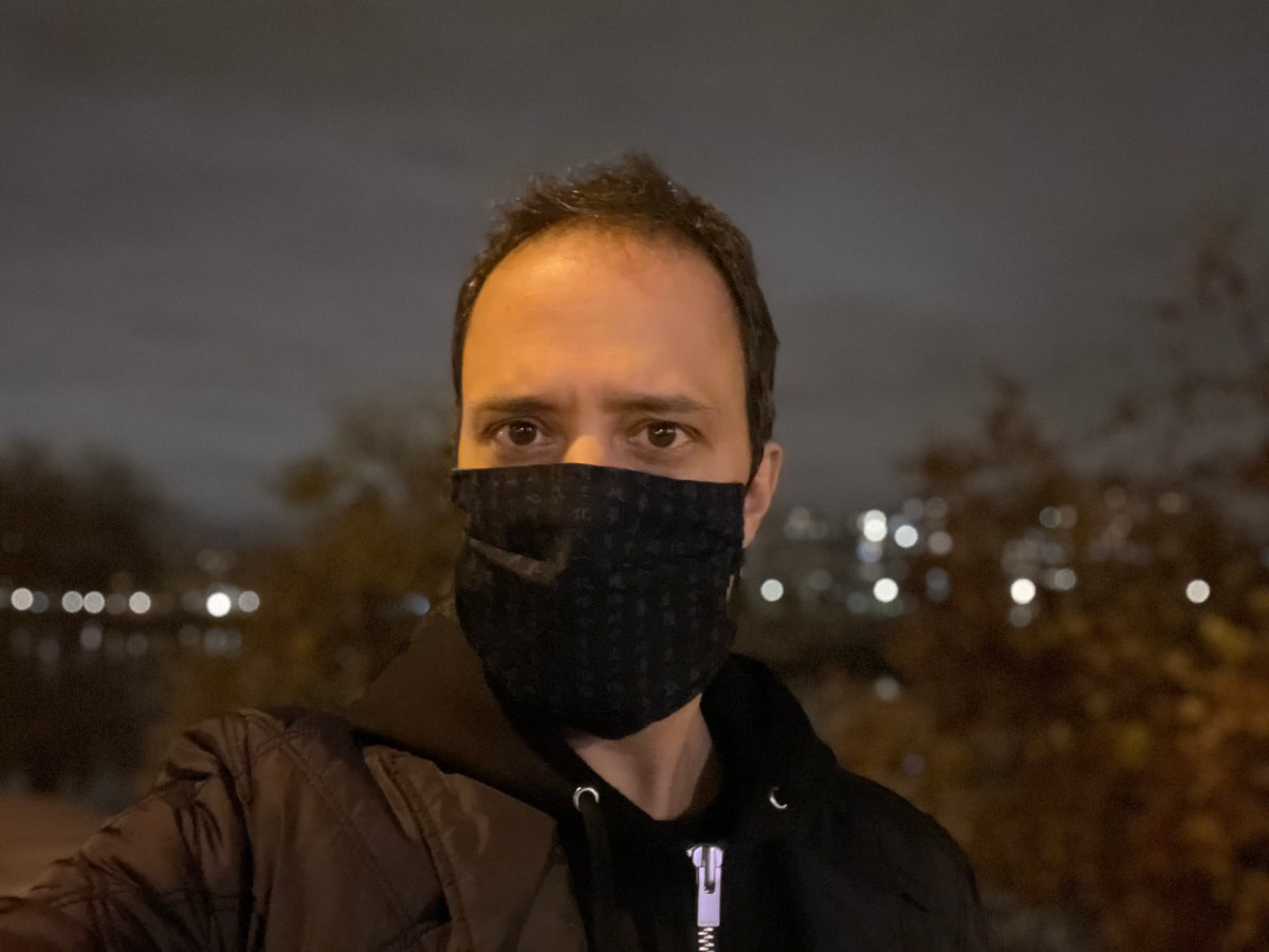 test apple iphone 12 pro max photo nuit selfie