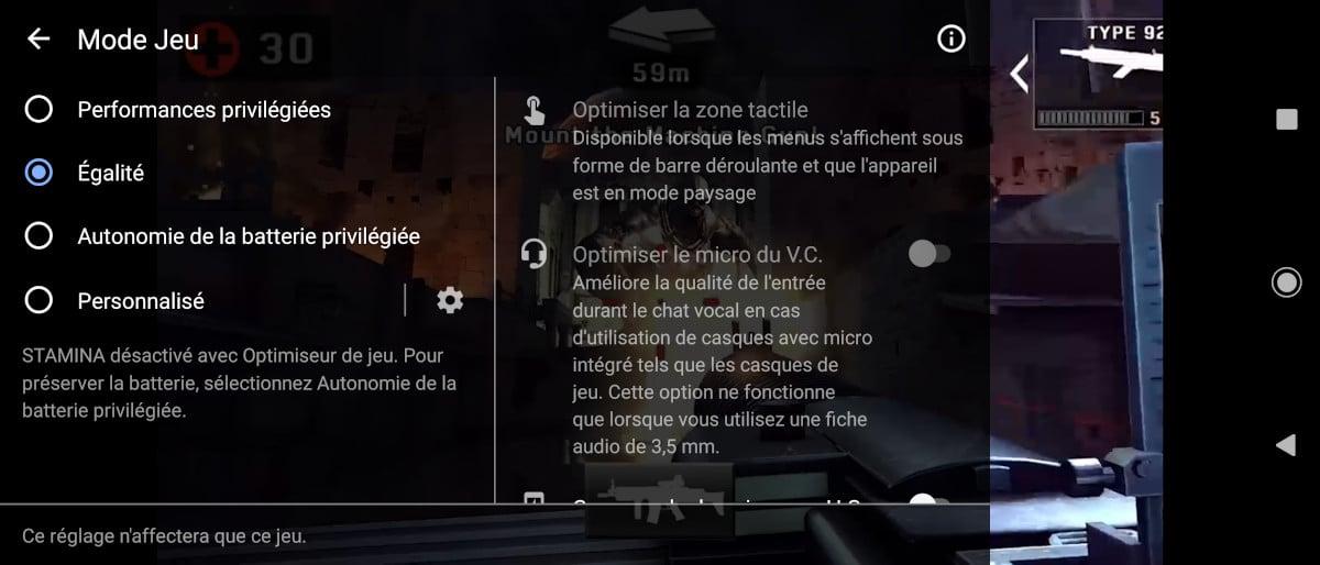 test xperia 5 mark 2 game mode interface 1
