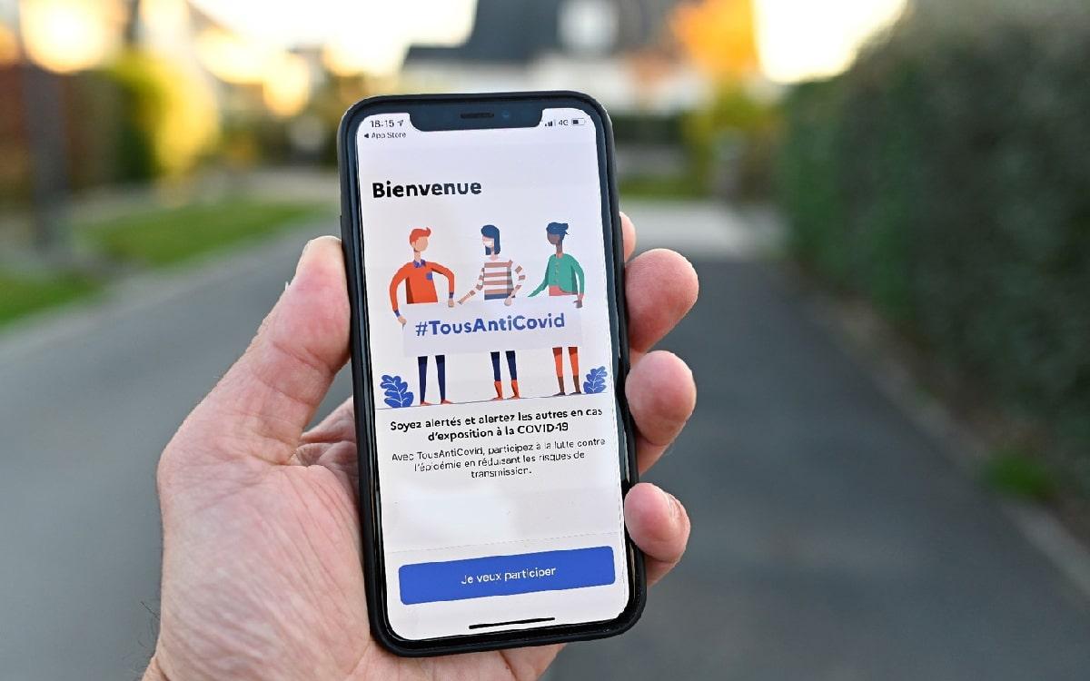 application TousAntiCovid sur iOS