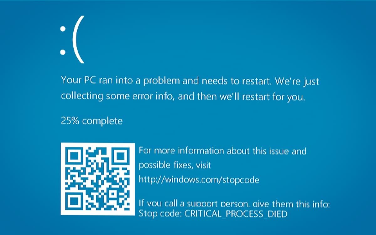 Windows 10 écran bleu BSOD