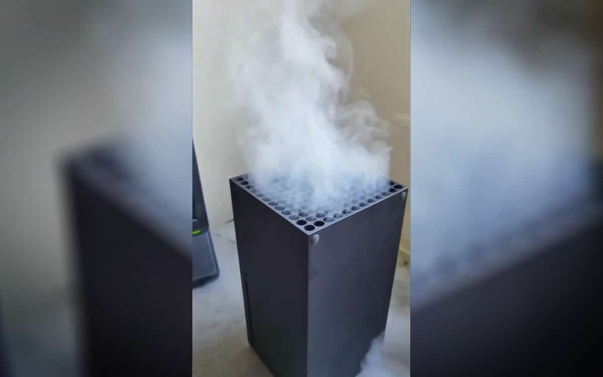 Xbox Series X smoke fumée