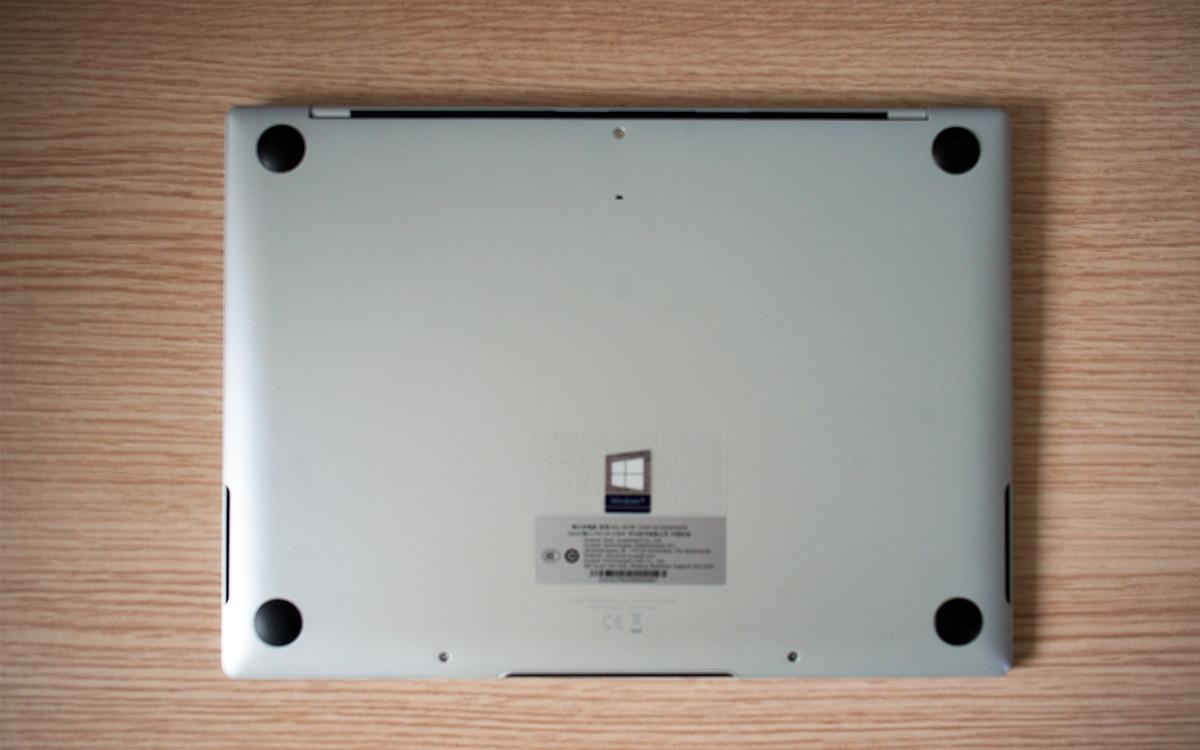 Huawei MateBook X dessous