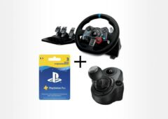 Pack Logitech volant G29 levier de vitesse abonnement PS Plus
