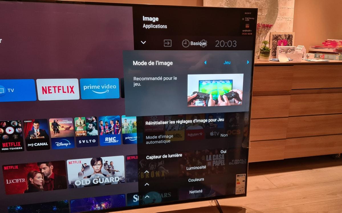 Sony Bravia XH90 image reglage 1