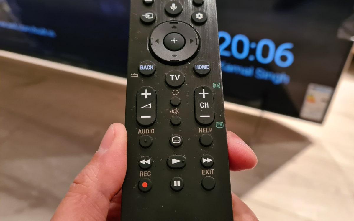Sony Bravia XH90 telecommande 2