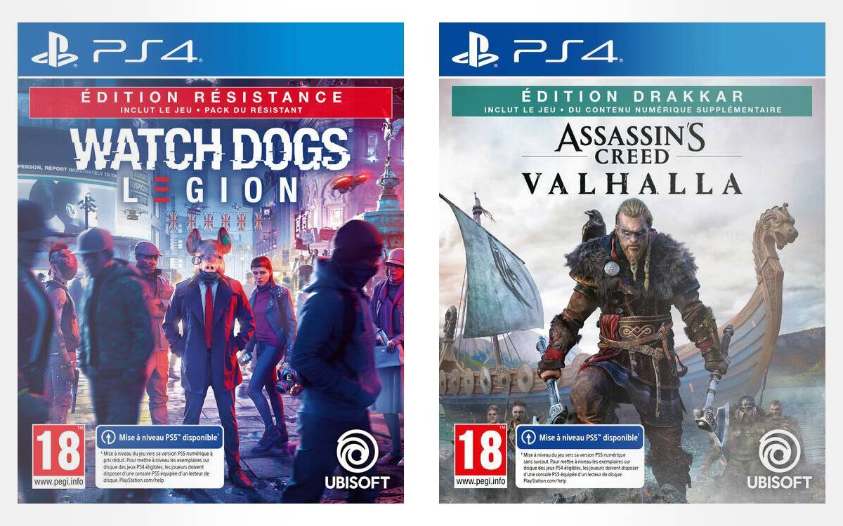 Watch Dogs Legion et Assassins Creed Valhalla à prix réduits