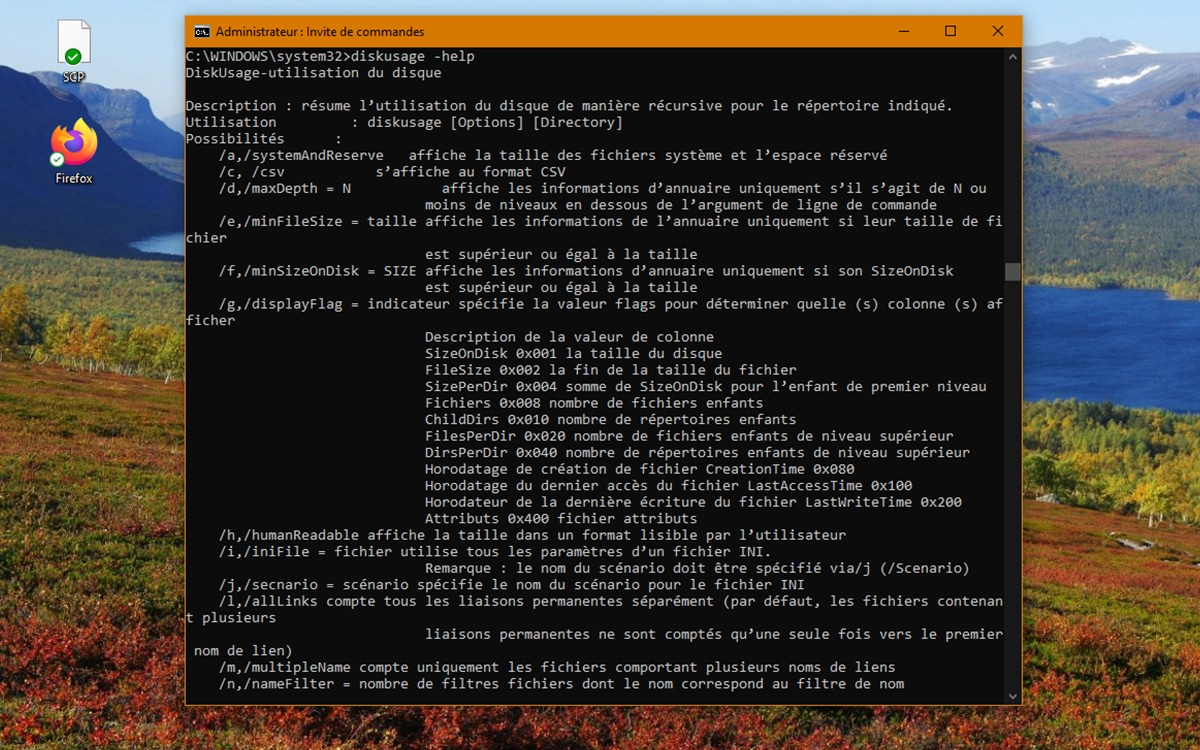 Windows 10 DiskUsage Command