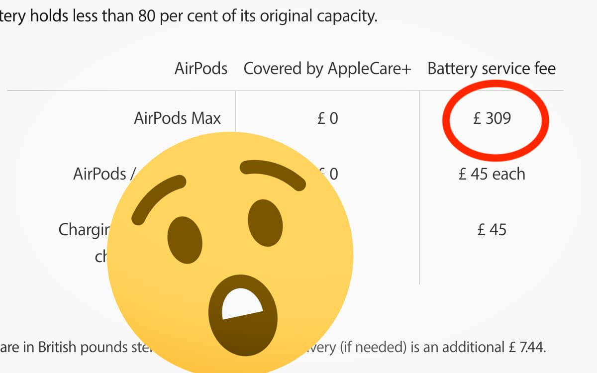 AirPods Max Prix Remplacer batterie