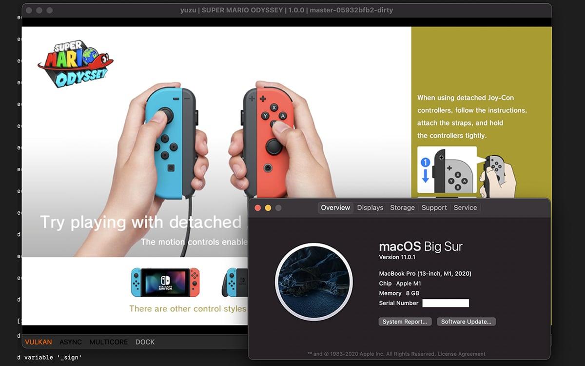 apple macbook m1 emulation Nintendo Switch Mario Odyssey
